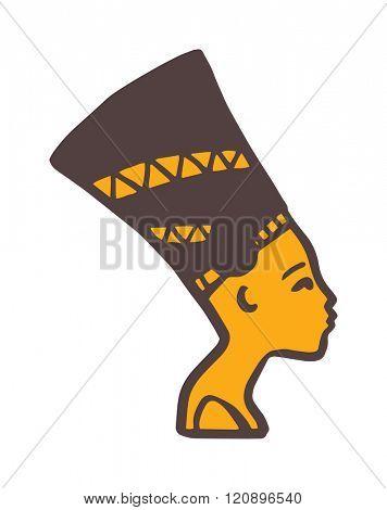 Pharaoh head vector illustration. Pharaoh head isolated on white background. Pharaoh head vector icon illustration. Pharaoh head isolated vector. Pharaoh head silhouette