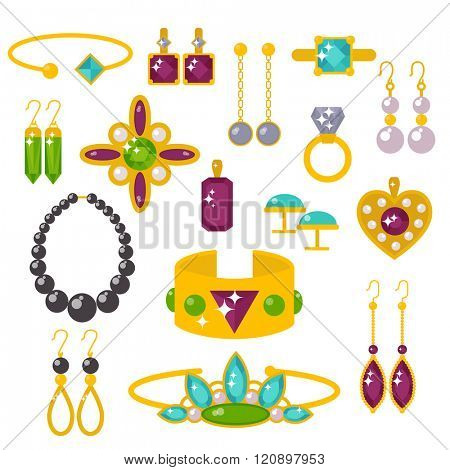 Flat jewelry stones vector illustration. Flat jewelry stones isolated on white background. Flat jewelry stones vector icon illustration. Flat jewelry stones isolated vector. Flat jewelry stones