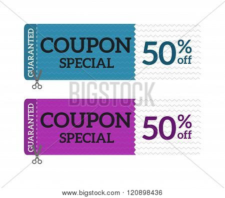 Gift Voucher Coupon certificate template Vector illustration.