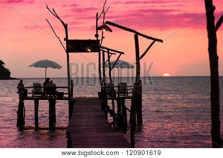 Way to Sunset Evening Meditation