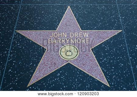John Drew Barrymore Hollywood Sign