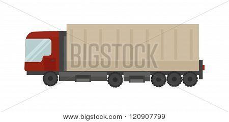 Cargo truck vector illustration