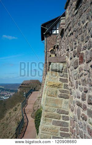 Road Along Wartburg Castle's Wall