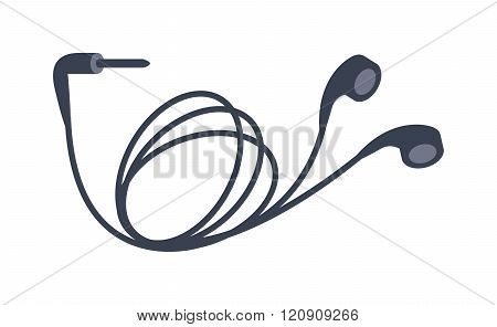 Mobile headphones vector illustration
