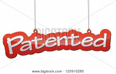 Red Background Patented