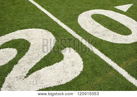 Twenty yard line