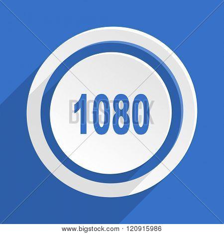 1080 blue flat design modern icon