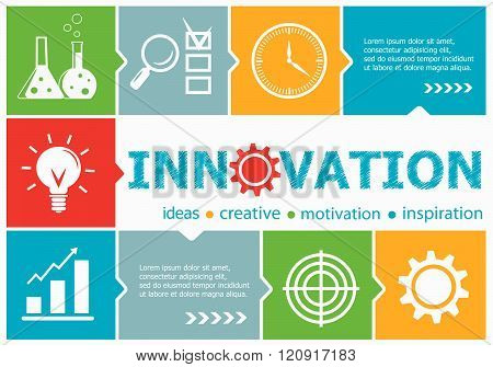 Innovation Design Illustration Concepts For Business, Consulting, Management, Career.