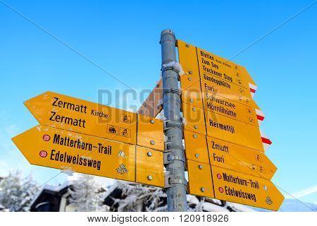 Zermatt Signpost