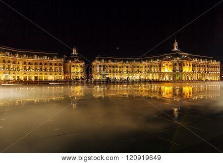 Place de la Bourse at Night, Bordeaux