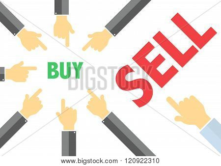 Buy, Sell - Buying Selling Concept Illustration
