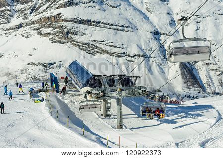 The Riffelberg express chairlift