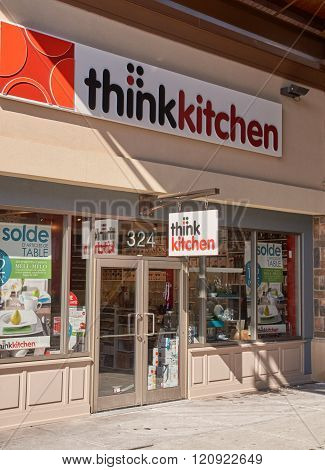 MONTREAL CANADA - MARCH 6 2016 - Think Kitchen outlet in Premium Outlets Montreal. The Premium Outlets is the second Premium Outlet Center in Canada located in Mirabel Quebec.