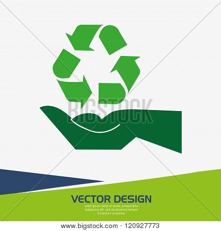providing hands design, vector illustration eps10 graphic poster