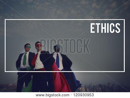 Ethics Virtues Values Behavior Integrity Concept