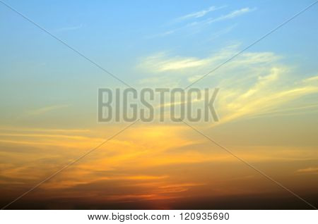 Early Morning Light, Blurred Sunrise Background, The Natural Lighting Phenomena.