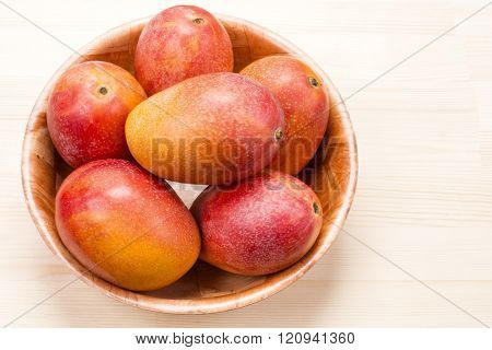 Five mango fruit
