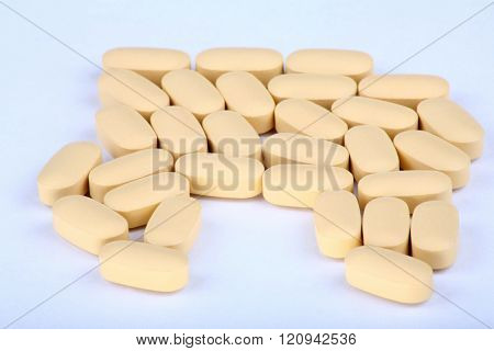 Hiv Therapy Pills On Background