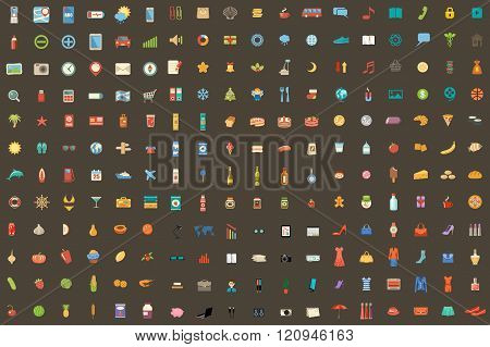 216 Icons On Different Subjects.