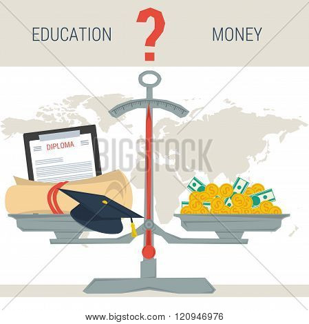 Scales - Education Or Money