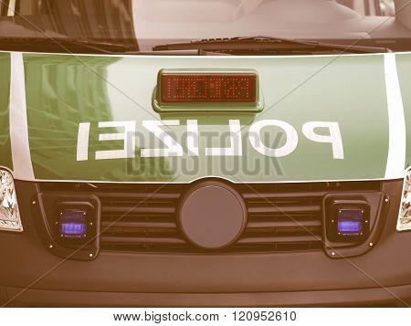 German Police Car Vintage