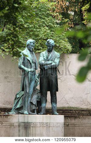 Vienna, Austria - Memorial Statue Of Joseph Lanner And Johann Strauss The Elder I