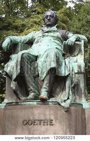 Vienna, Austria Statue Of Author Johann Wolfgang Von Goethe (designed By Edmund He