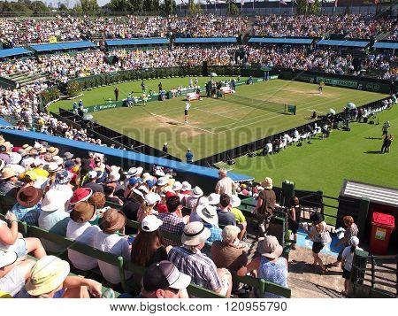 Davis Cup tie USA against Australia at Kooyong Lawn Tennis Club
