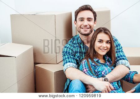 Couple moving to new home