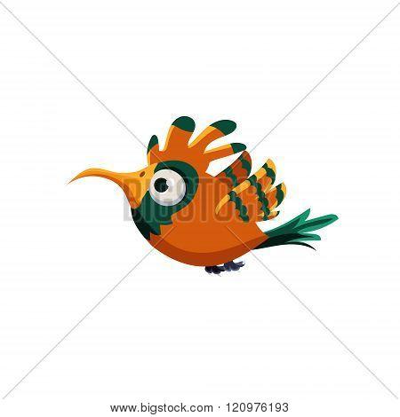 Orange Paradise Bird