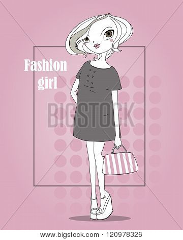 Pretty-girl-in-fashionable-clothes-with-bag