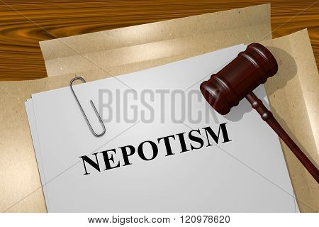 Nepotism Concept