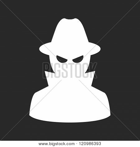 Undercover Agent - Private Detective Or Spy In Hat And Coat