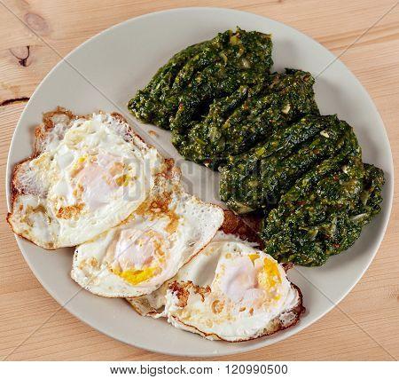 Eggs And Nettle Porridge