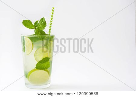 Summer drink. Fresh mojito. Isolated photo