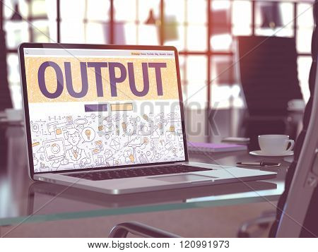 Output - Concept on Laptop Screen.