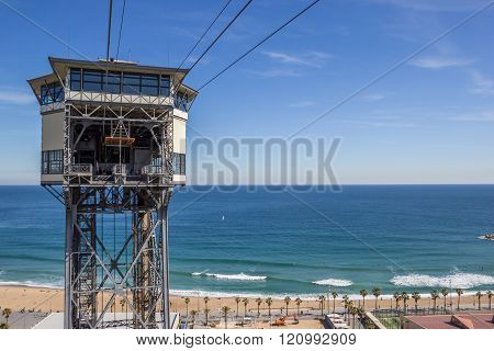 View Over The Beach Of Barcelona