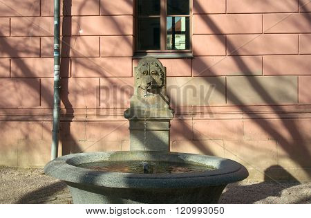 Fountain At Reading Museum, Weimar
