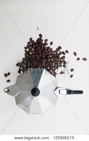 Coffee Beans With Espresso Maker