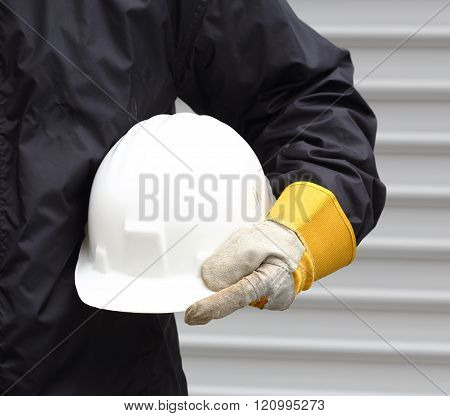 worker with helmet