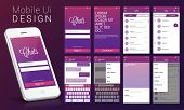 Material Design UI, UX, GUI screens and flat web icons for mobile apps, responsive website including Sign Up Screen, Welcome Screen, Chat Screen, Contact List Screen, Chat Screen and Setting Screens.  poster