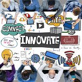 Innovate Innovation Technology Tactics Future Concept poster