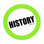 an images of HISTORY black stamp text on green poster