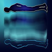 an illustration of man in Astral body projection poster