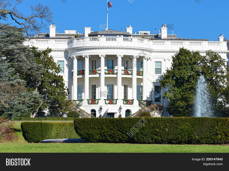 Christmas Time In Washington Dc.White House Christmas Image Photo Free Trial Bigstock