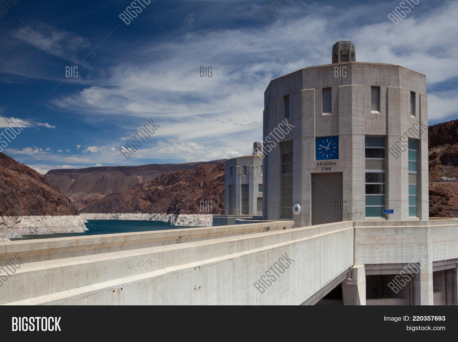 Hoover Dam Towers On Image & Photo (Free Trial) | Bigstock