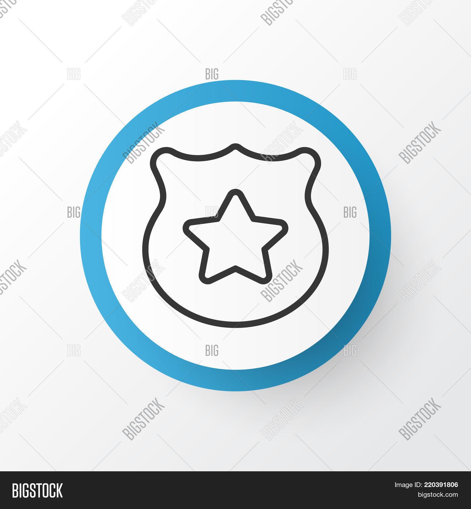 Police Badge Icon Image Photo Free Trial Bigstock
