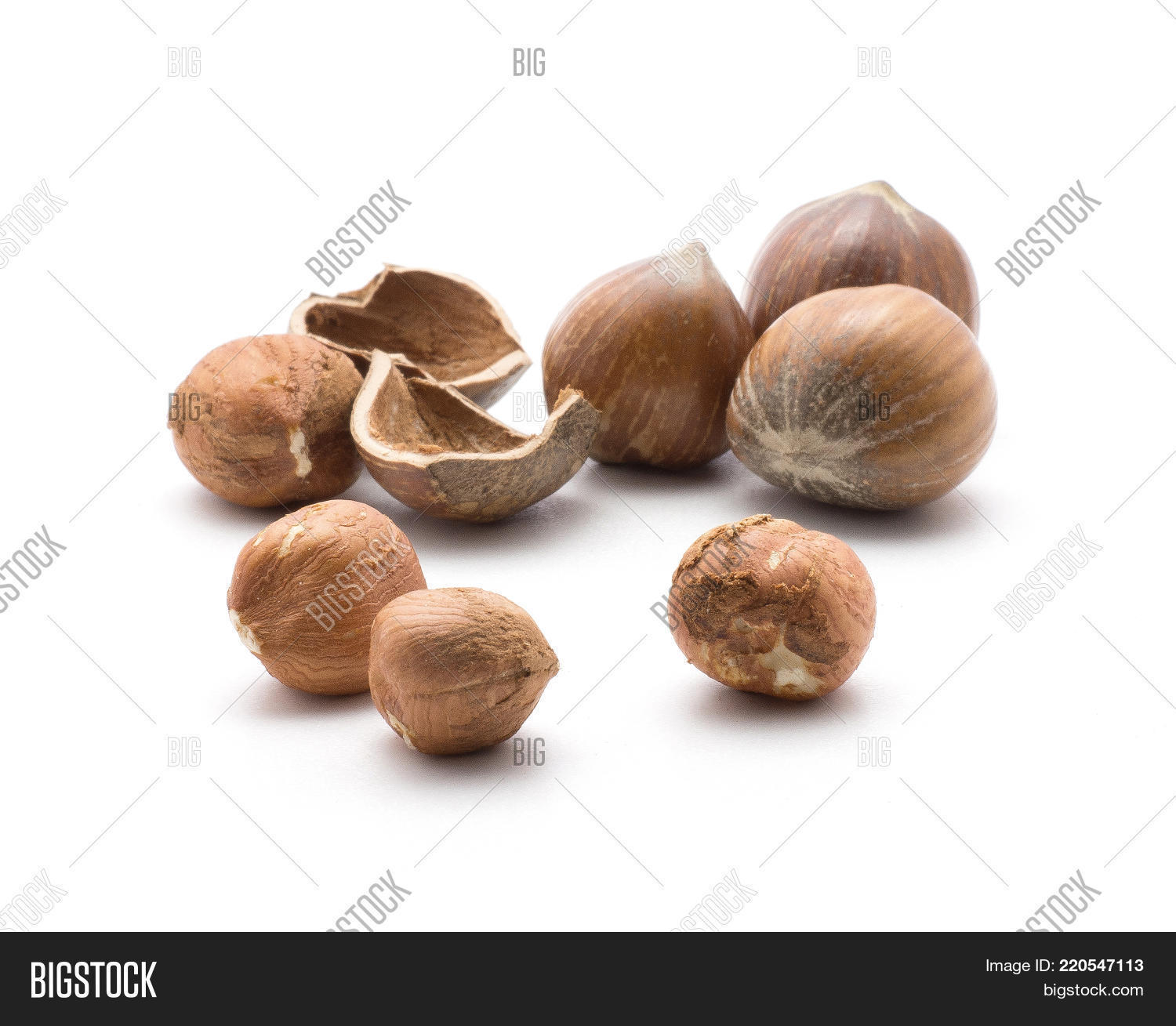 Hazelnuts Isolated On Image Photo Free Trial Bigstock