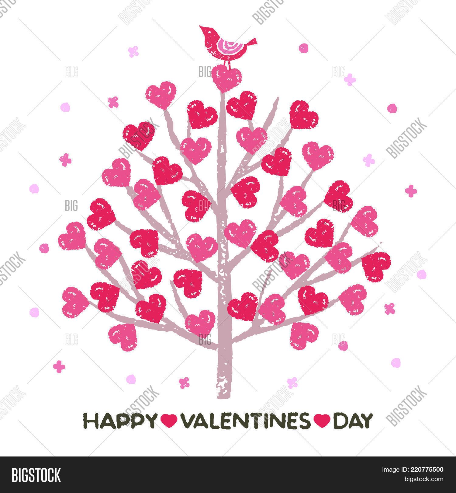 Valentines Day Tree Vector Photo Free Trial Bigstock