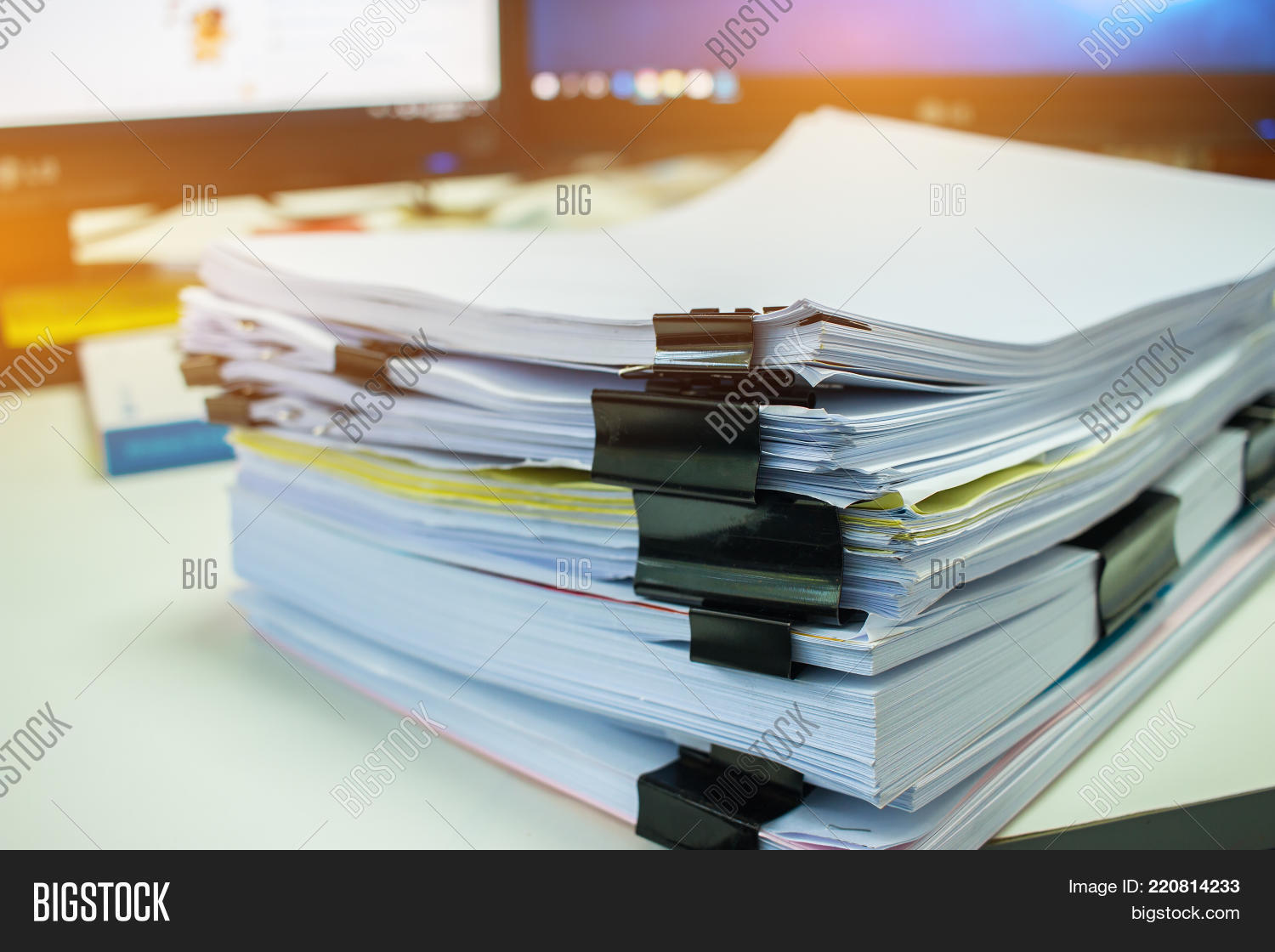 stacks documents files image photo free trial bigstock